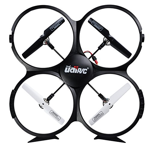 UDI-U818A-RC-Quadcopter-Drone-for-Beginners-Best-RTF-UAV-Toy-with-24GHz-HD-Camera-Video-Headless-Mode-6-Axis-Gyro-Return-Home-Function-BONUS-2-Batteries-Included-Black