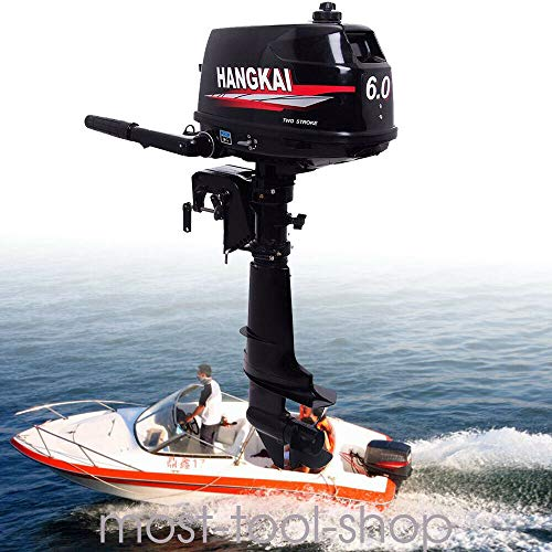 LOYALHEARTDY19 6 Hp Outboard Motor, Stroke Outboard Motor Engine Shaft Fishing Boat Water Cooling System
