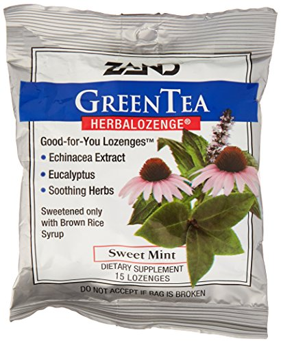 Zand HerbaLozenge Green Tea - 15 lozenges per pack - 12 packs per case. (Lozenge Green Tea Herbal)