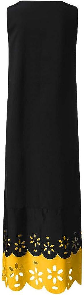 Weant Womens Vintage Boho Print High Split Maxi Dress W// Pockets