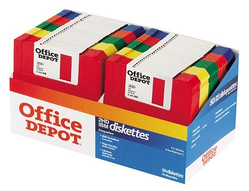 Office Depot(R) 3 1/2'' Bulk Diskettes, IBM(R) Format, DS/HD, Rainbow, Box Of 50 by Office Depot, Inc.