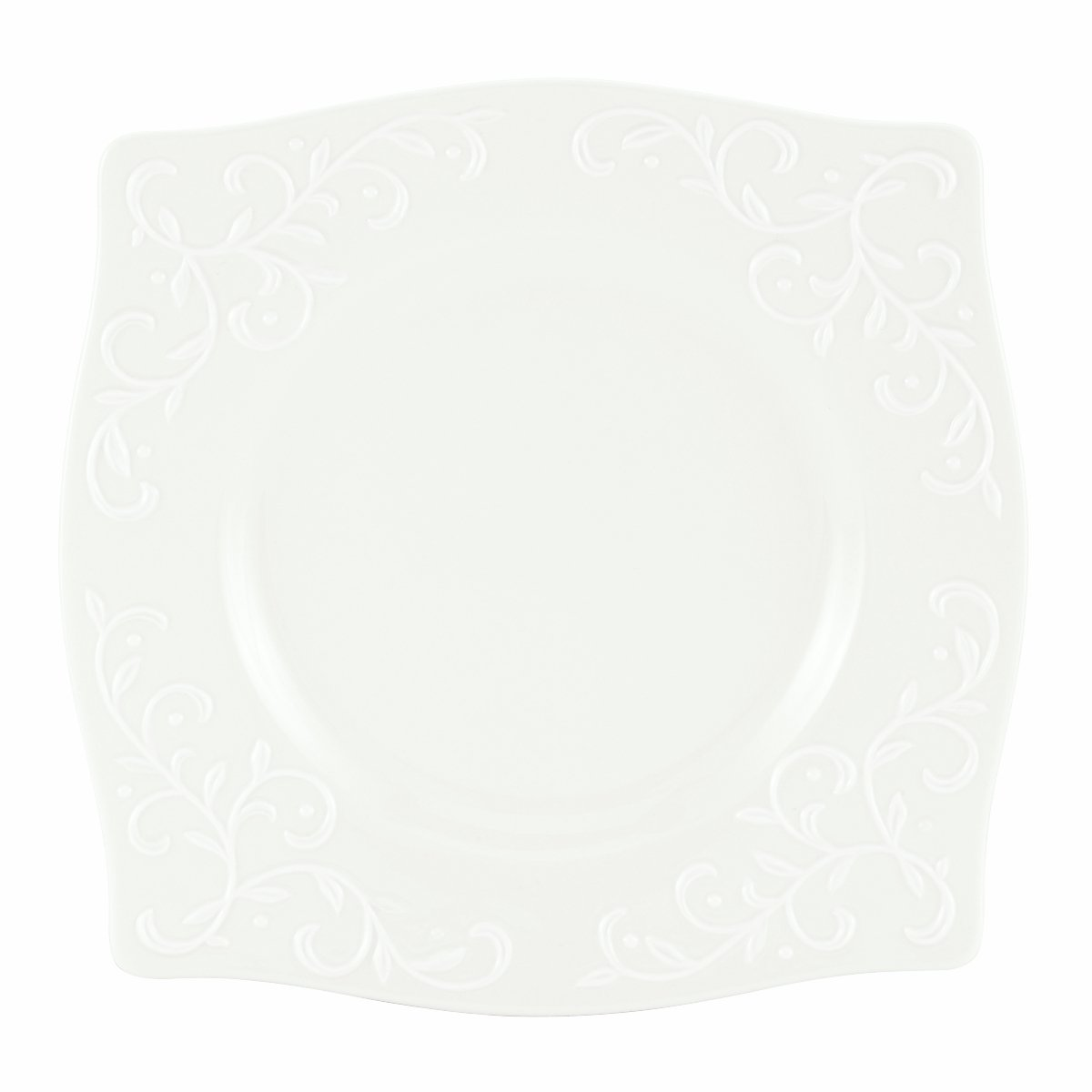 Lenox Opal Innocence Carved 9-Inch Square Accent Plate