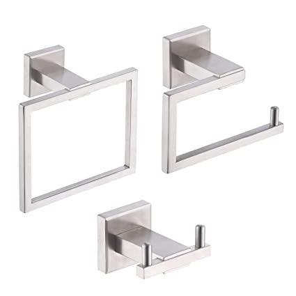 Lot de 4 accessoires muraux de salle de bain KES en inox 304SUS ...