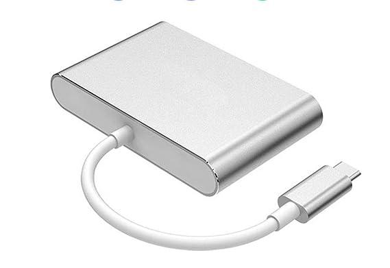 Hub USB Concentrador USB Aleación de magnesio de aluminio tipo C: 8.3 mm × 2.5 mm USB 3.0 * 1USB 2.0 * 2 Admite transmisión de ancho de banda de alta ...