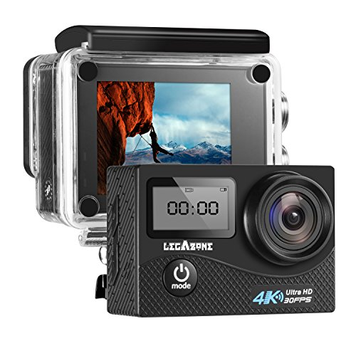 LegazoneSports Action Camera 12MP 1080P 2.0'' LCD 170° Wide