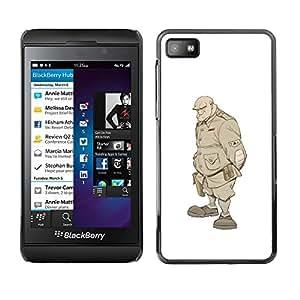 FlareStar Colour Printing Solider Monster Undead Warrior Soldat cáscara Funda Case Caso de plástico para Blackberry Z10