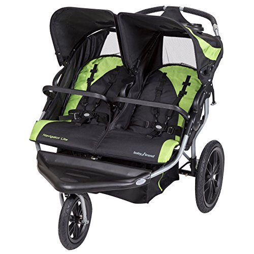 Baby Trend Navigator Lite Double Jogger Stroller, Lincoln by Baby Trend