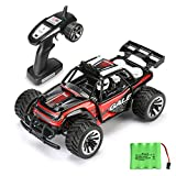 RC Car Remote Control Cars TOQIBO Electric Racing Car Off Road 1/16 Scale 2.4Ghz 50M 2WD High Speed Desert Buggy Vehicle Radio Controlled Monster Truck Rock Crawler Toy Car With 4 More Lock Catch