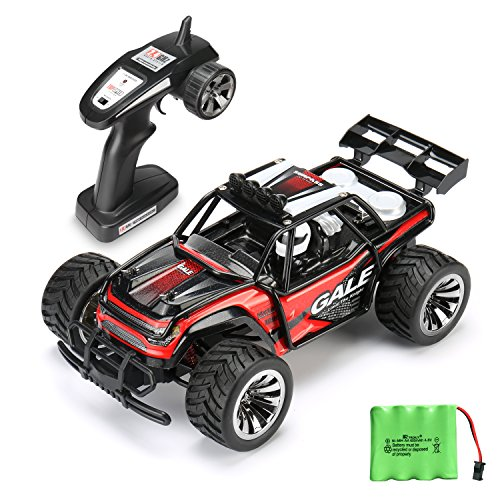 RC Car Remote Control Cars TOQIBO Electric Racing Car Off Road 1/16 Scale 2.4Ghz 50M 2WD High Speed Desert Buggy Vehicle Radio Controlled Monster Truck Rock Crawler Toy Car With 4 More Lock Catch (10 Scale Remote Control)