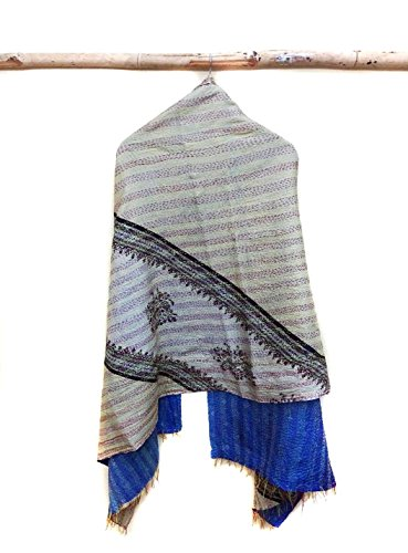 Silk Kantha Scarf Head Wrap Stole Dupatta Collar Neckerchief Scarves