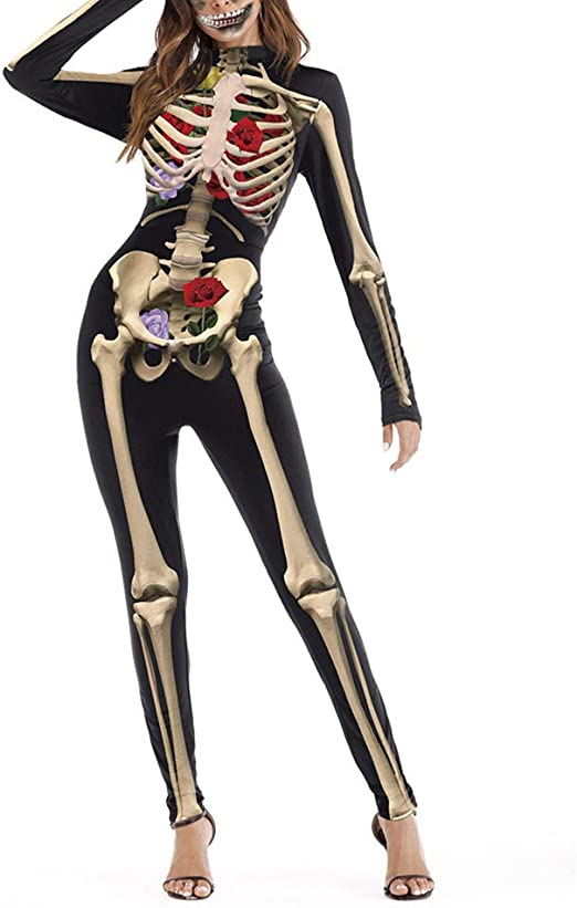 Mono de manga larga para Halloween, unisex, disfraz de calavera ...