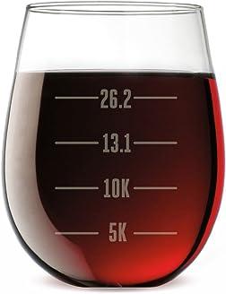 Runner's Measurements Engraved Stemless Wine Glass