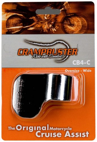 - Crampbuster CB4-C Chrome Throttle Mounted Motorcycle Cruise Assist