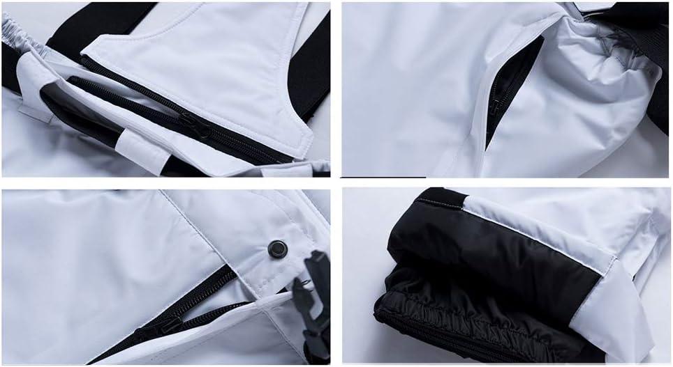 HKYMBM Snowboard Cargo Pants degli Uomini//Cinghia Staccabile in Cotone Imbottitura in Piuma Antivento Pantaloni Sport Invernali Resistenti