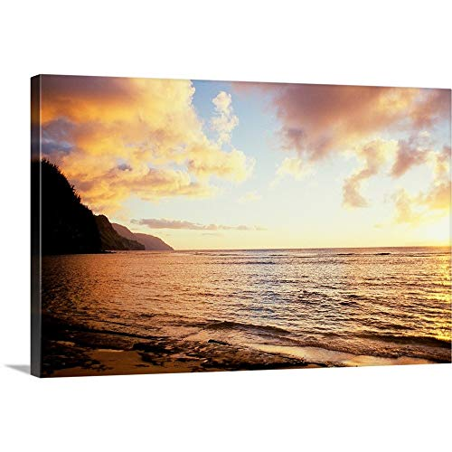 Expert choice for na pali sunset wall art