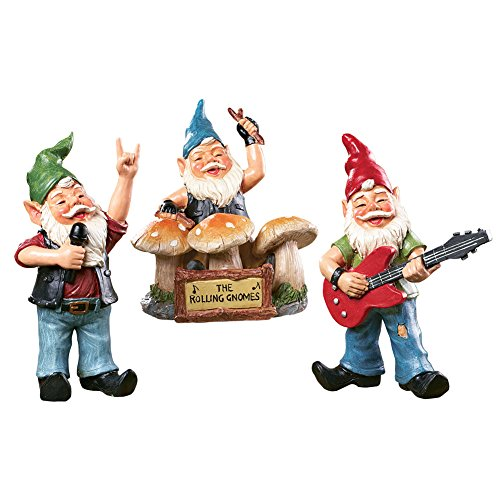 - Collections Etc The Rolling Gnomes Garden Figurines - 3pc