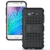 Samsung Galaxy J7 Case Cover - Tough Rugged Dual Layer Protective Case with Kickstand for Samsung Galaxy J7 - Black