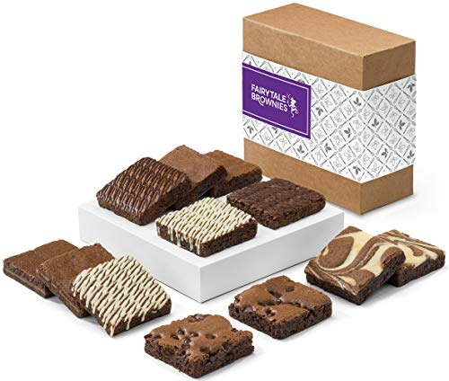 (Fairytale Brownies Nut-Free Brownie Dozen Gourmet Chocolate Food Gift Basket - 3 Inch Square Full-Size Brownies - 12 Pieces - Item CF122 )