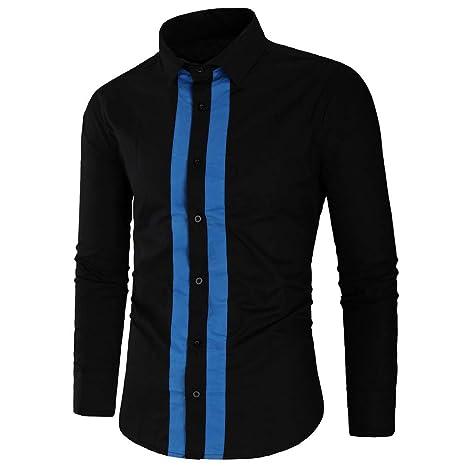 Camisa HombreCamisa de Manga Larga para Hombre Camisa de algodón a ...