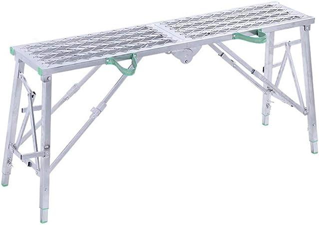 XSJZ Taburete Plegable para Escalones, Levantamiento de Altura Ajustable, Engrosamiento, Refuerzo de Andamios, Adecuado para La Ingeniería de Renovación Escalera Escalera Plegable (Color : D): Amazon.es: Hogar