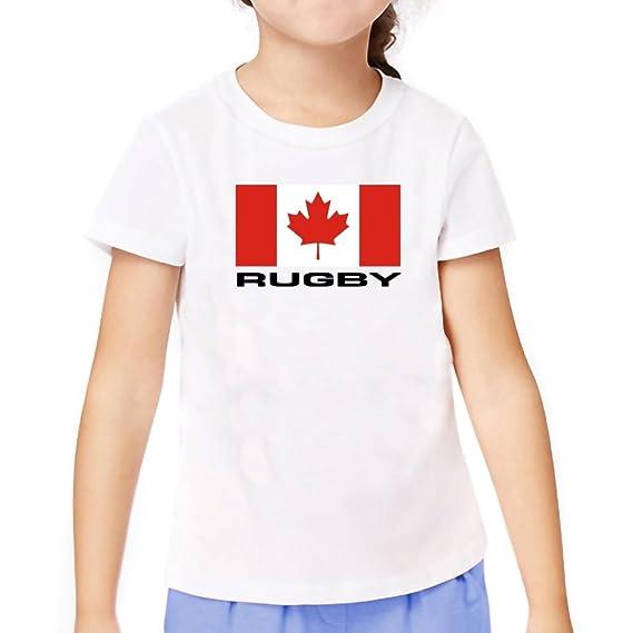 Teeburon FLAG CANADA Rugby Playera Niña: Amazon.com.mx: Ropa ...