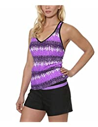 Gerry Women's Colorblock Tankini Swimsuit with Built in Bra