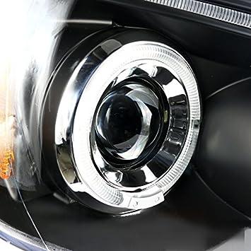 Halo Led Spec-D Tuning 2LHP-TAC06JM-TM Black Projector Headlight