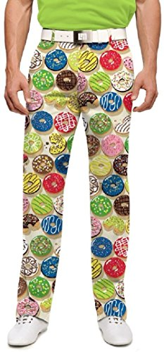 Loudmouth Golf Mens Pants - Doughnuts - Size 38x32
