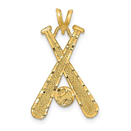 Jewelry Pendants & Charms Themed Charms 14k Baseball Charm