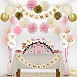 Golden Babyy Girl Baby Shower Decorations - Bundle Includes...