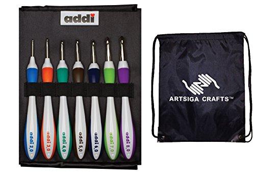 addi Swing Standard Crochet Hook Set with 1 Artsiga Crafts Project Bag by Artsiga Crafts addi