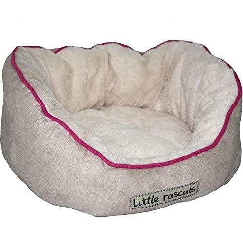 Little Rascals Night Night Oval Puppy or Kitten Bed, Beige