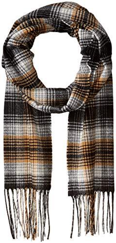 Pendleton Men's Whisperwool Muffler Scarf, tan/grey plaid, One Size