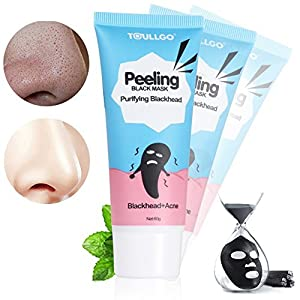 Blackhead Remover Mask, Black Head Mask, Bamboo Charcoal Tearing Style Deep Cleansing Purifying Peel off Blackhead, Acne treatment, Black Mud Face Mask