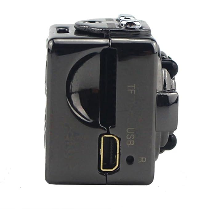 Mengshen 8GB Full HD 1080P 30fps videocámara digital videocámara videocámara Ultra-Mini Metal DV movimiento de apoyo de detección con visión nocturna IR ...