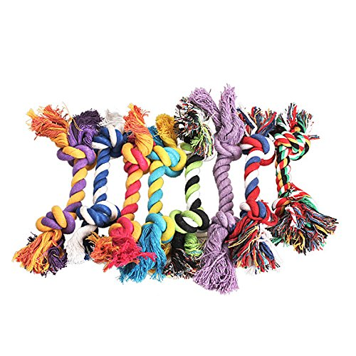 Kermit The Frog Dog Costume (Openuye Puppy Chew Dog Rope Toy Assortment for Small Breeds, Small Dog Teething Toys, Pet Rope Toys for Chasing (8 Pcs))
