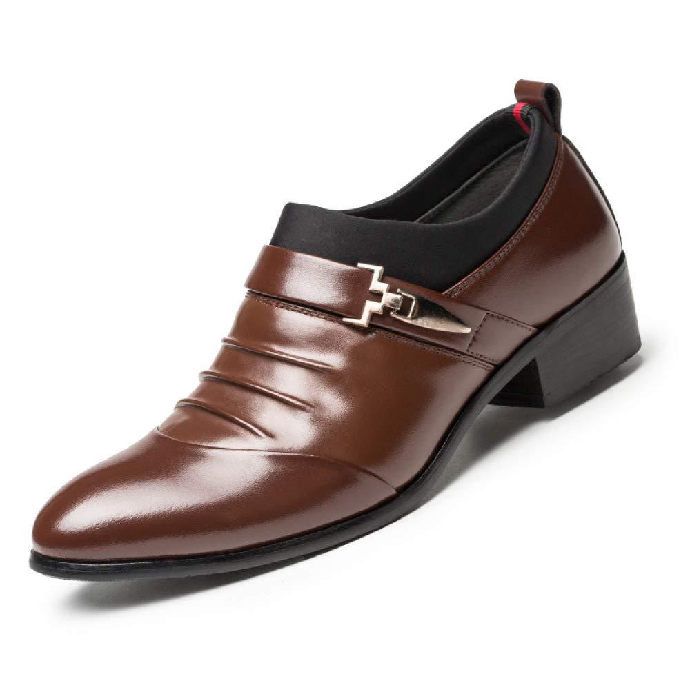 WLFHM Herren Kleid Schuhe Leder Business Herren Schuhe