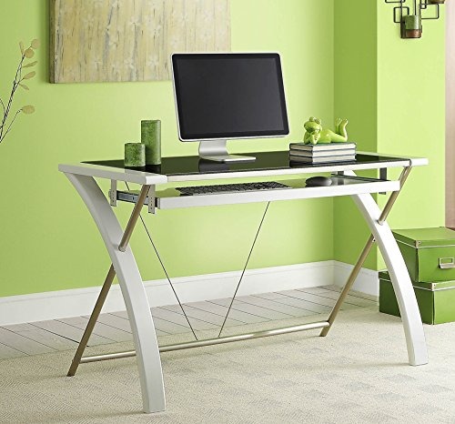 WHALEN Furniture ECOM-ZARDK-WH Zara Desk, 48-Inch, White