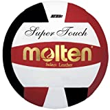 Molten Super Touch Volleyball (Red/Black/White, Official)