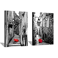 Cityscape Canvas Wall Art - Cityscape Painting Artwork for Wall