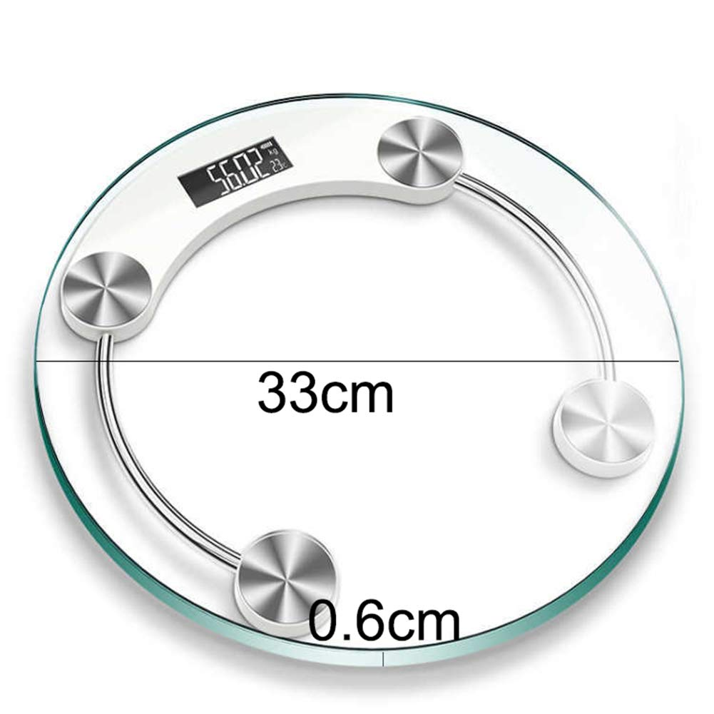 wvcetgbwe Body Fat Scale Clear 180kg Tempered Glass LCD Display Lightweight Durable Digital Electronic Bathroom Weight Scale Transparent