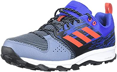 adidas Performance Men's Galaxy Trail m Running Shoe, Raw Steel/Hi-Res Red/Hi-Res Blue, 7 M US