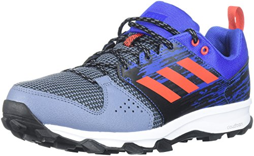 adidas Performance Men's Galaxy Trail m Running Shoe, Raw Steel/Hi-Res Red/Hi-Res Blue, 10 M US (Adidas Trail Running Shoes Men)
