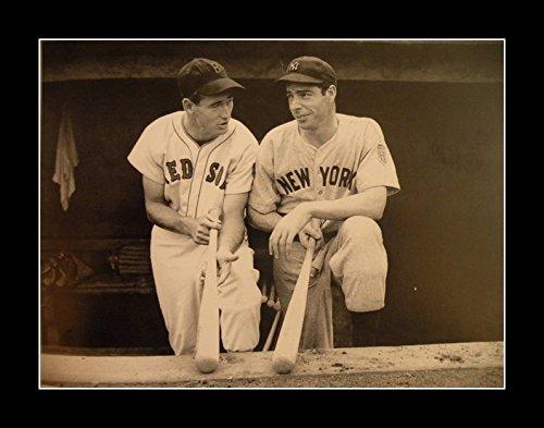8 x 10 All Wood Framed Photo Old_Baseball_Pics Ted Willaim Joe (Pic Baseball)