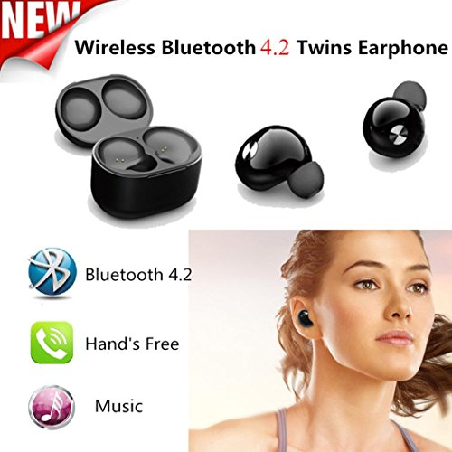 Price comparison product image WensLTD Mini True Wireless Bluetooth Twins Stereo In-Ear Headset Earphone Earbuds