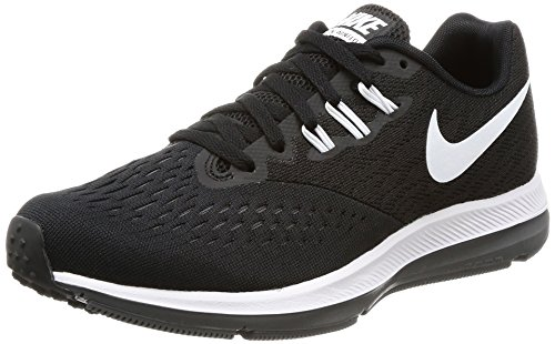 Wmns Zoom 4 Nike dk Running white Nero Donna Air black Grey Scarpe Winflo F4wdgx