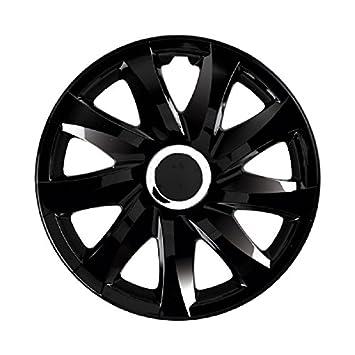 Tapacubos - Tapacubos Tapacubos negro 16 pulgadas, apta para Citroen Berlingo 2, C3 Picasso, C4 + COUPE, C5, DS3, JUMPY: Amazon.es: Coche y moto