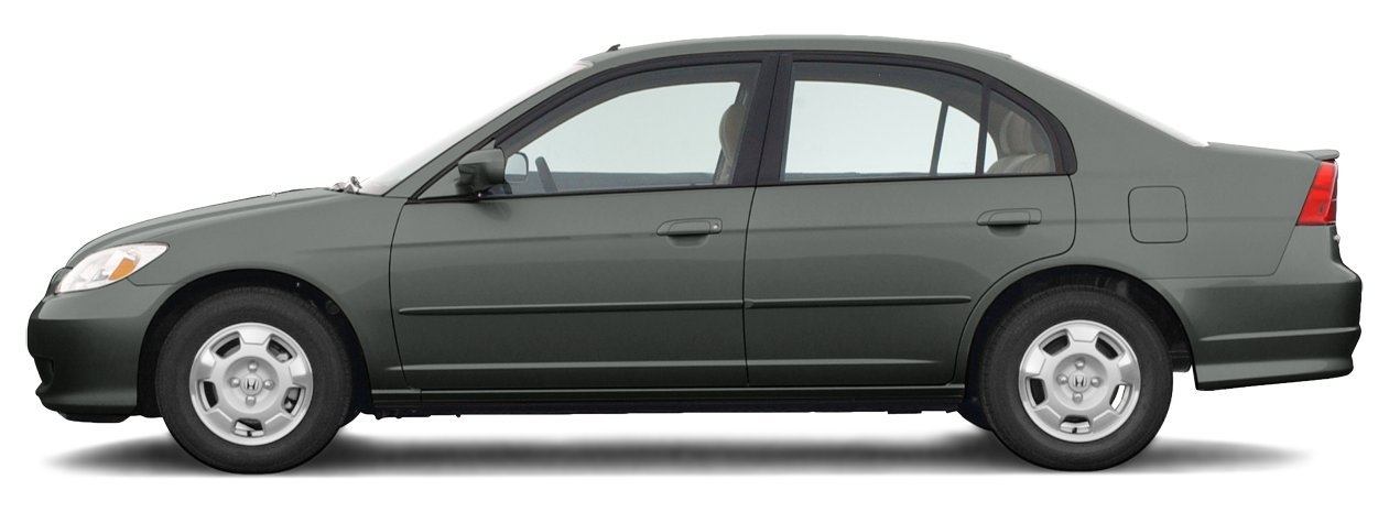 2004 Honda Civic, 4 Door Sedan Hybrid CVT Automatic Transmission PZEV ...