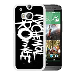 Excellent protection,Lightweight and durable My Chemical Romance Danger Days Logo White HTC ONE M8 Case