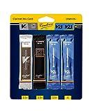 Vandoren CRMIX35+ Bb Clarinet Reed Mix Card, Includes 1 Each of V12, 56 Rue Lepic, V21 & Bonus V21